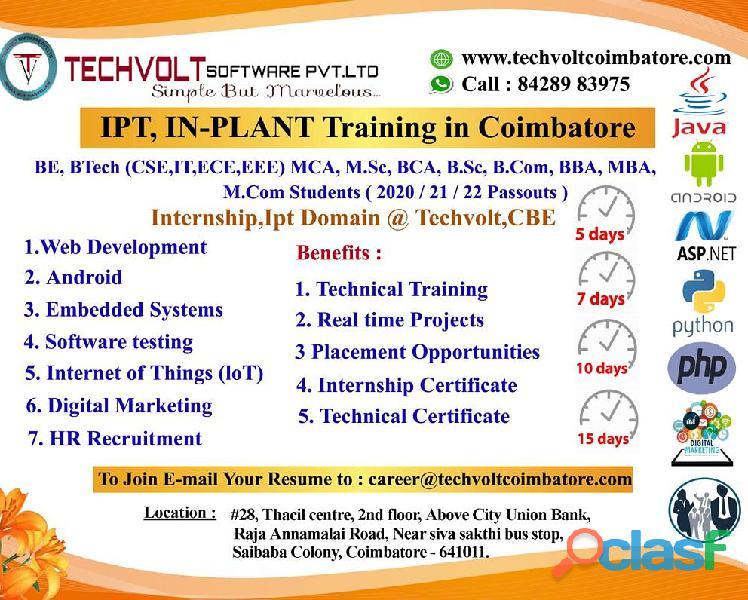 PHP Summer Internship in Coimbatore