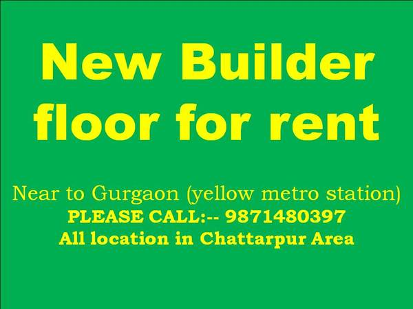 3bhk flats for rent in chattarpur please call