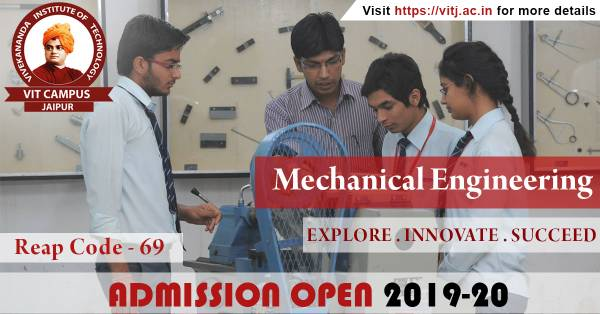 B.Tech Admission Open  for Mechanical Engineering