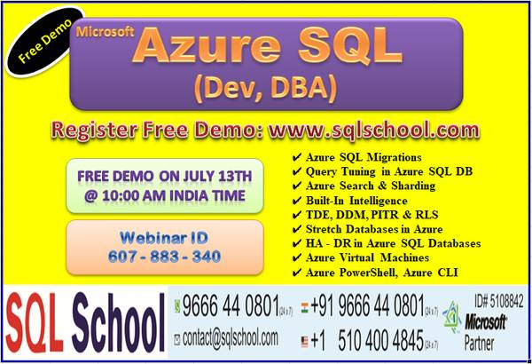Microsoft Azure SQL Database (Developer & DBA)