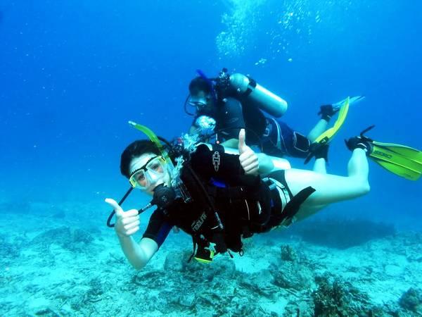Explore the marine life while scuba diving in Goa