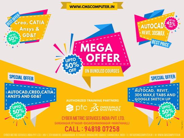 HURRY UP.! UpTo 50 % OFF on all CAD, AutoCAD, CATIA, CREO