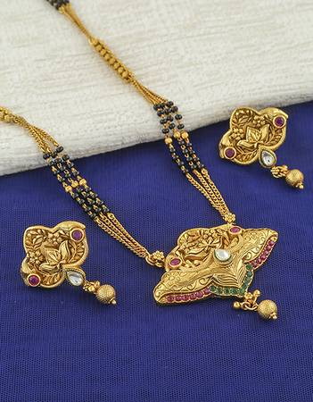 Check out the wide range of Short Mangalsutra Designs