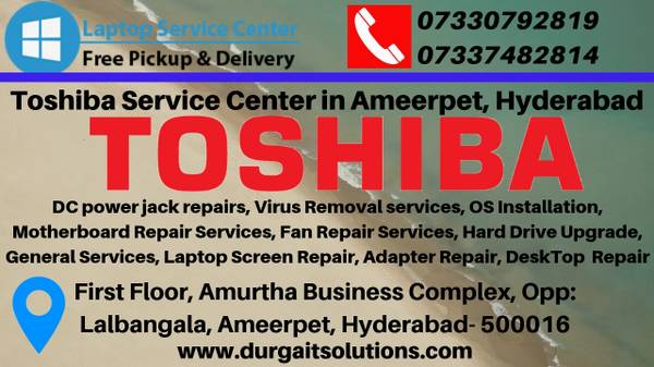 Toshiba service center in Ameerpet