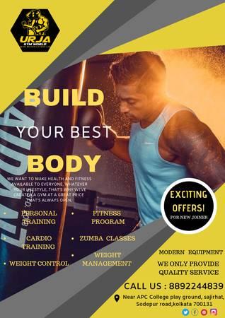 Affordable & Best Fitness Gyms in Kolkata - Urja Gym World