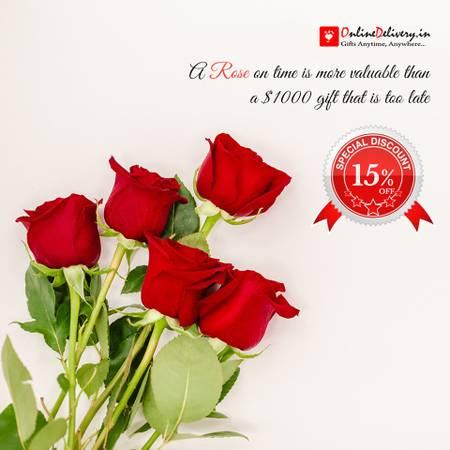 Shop Rose Flower in Delhi