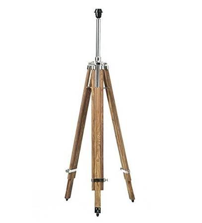 Nauticalmart Timber Tripod Floor Lamp Stand Teak Wood