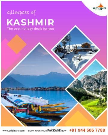 Enjoy your kashmir tour with Origin tours.