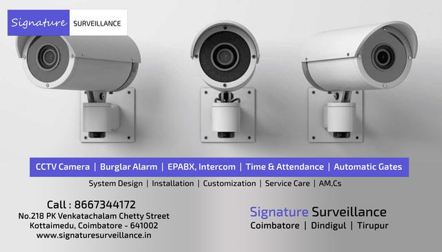 Signature Top CCTV Installation Service in Tirupur