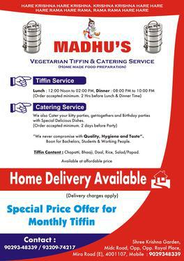 Madhu Tiffins & Caterer- Healthy Home Made meal in Mira Road