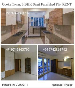 COOKE TOWN: A PRIME 3 BHK Semi Furnished Flat for RENT