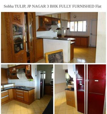 Sobha TULIP 3 BHK FULLY FURNISHED Flat for RENT