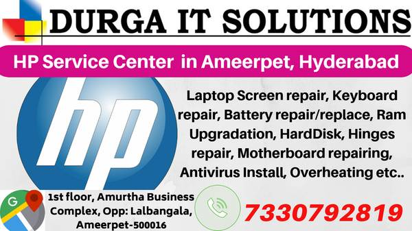 HP service center in Ameerpet, Hyderabad