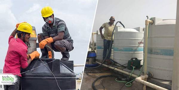 Low-cost water tank cleaning service with TechSquadTeam