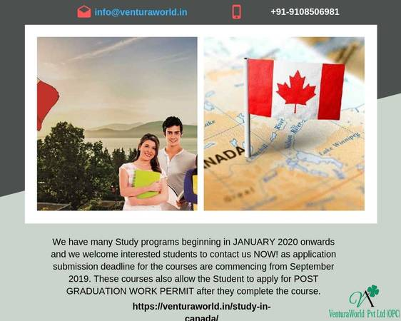 Get Opportunity For Study In Canada For Indian Students
