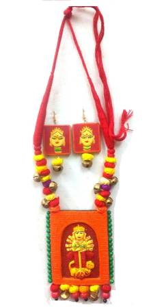 Festive Attractive Terracotta Necklace Sets could be worn on