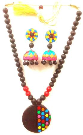 Festive Wear Handmade Terracotta Necklace taste and with the