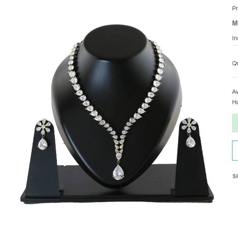 Get Diamond Necklace for Women at Best Price at Anuradha Art