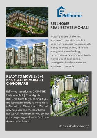 Ready to move 2/3/4 BHK Flats in Mohali | Chandigarh