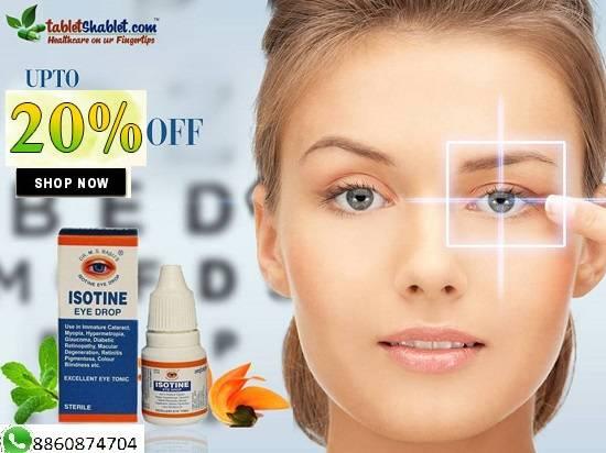 Isotine Eye Drop online at Upto 20% OFF   TabletShablet