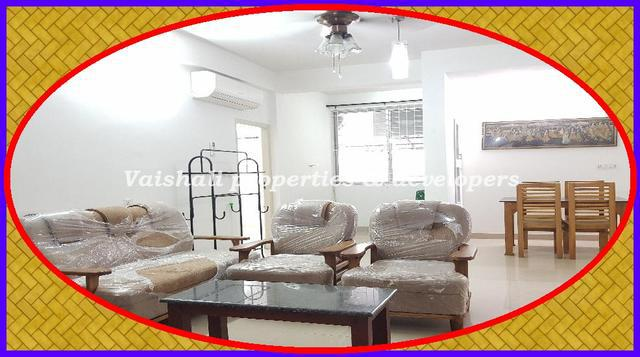Semi furnished 3 BHK flat near Calicut Beach