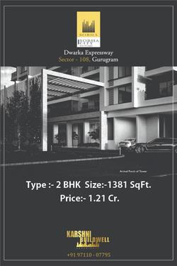 2 BHK 1381 SQ FT SOBHA CITY DWARKA