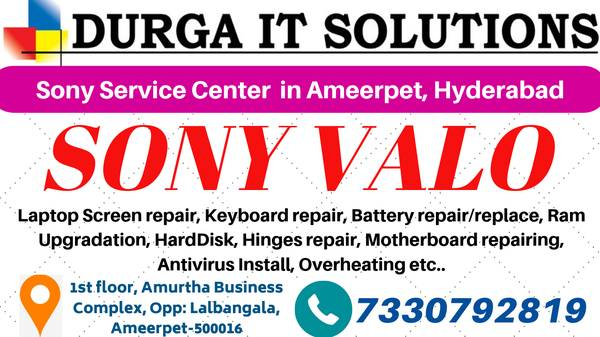 Looking for Sony Laptop service center Ameerpet, Hyderabad?