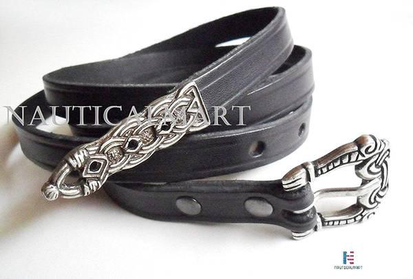 NAUTICALMART Medieval Black Belt 160 x 1,5 x 0,25 cm Black