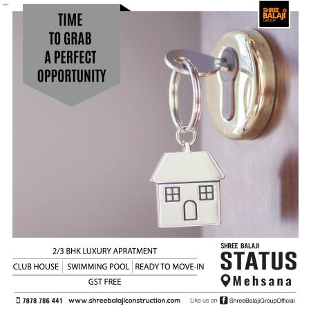 Affordable 2/3 BHK Luxurious Apartment in Mehsana