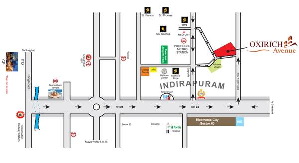 Oxirich Avenue Luxury 3 BHK Flats in Indirapuram Ghaziabad