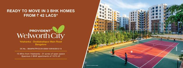 Provident Welworth City Flats for Sale in Yelahanka Read