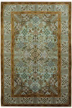 Royale Kashan Handmade Silk Carpet Yak Carpet