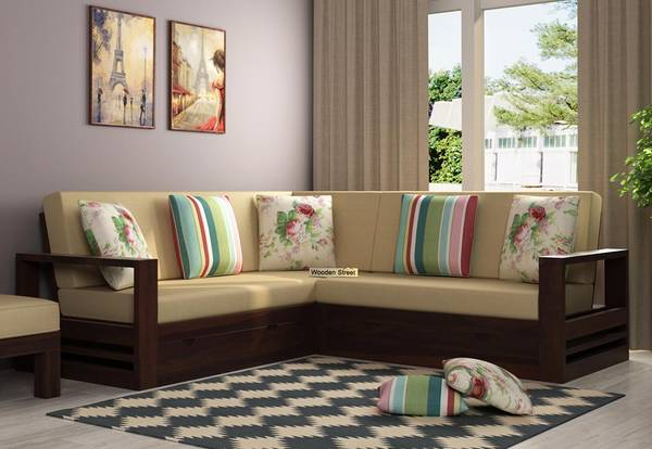 Look at the Enigmatic L Shaped Sofa Set Design @ Wooden