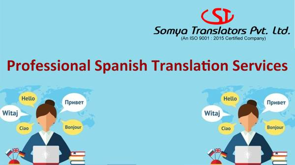 Professional Spanish translation services in India