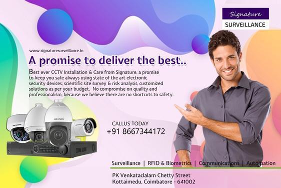 Signature CCTV Installation Service in Coimbatore