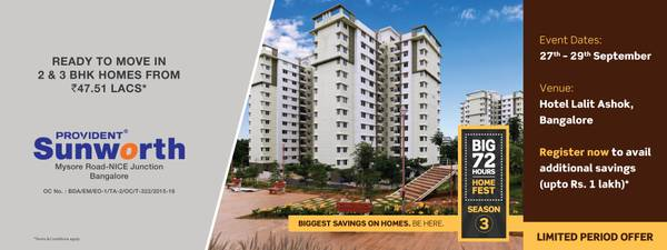Provident Sunworth | Flats for Sale on Mysore Road-Nice