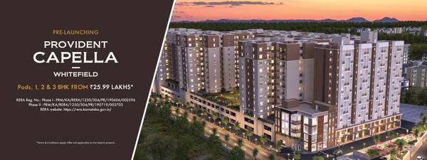 Provident Capella | Flats for Sale in Whitefield, Bangalore