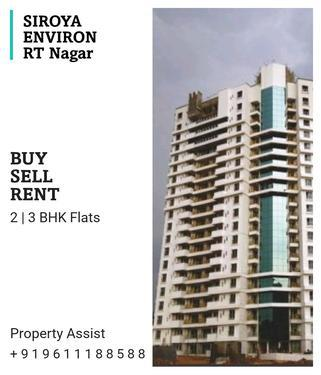 SIROYA ENVIRON Spacious 2 BHK Semi Furnished for RENT