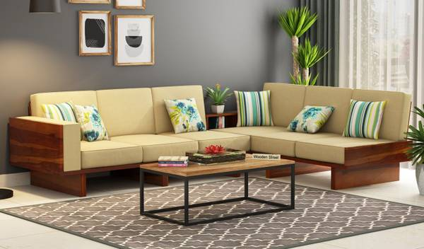 Wide collection of L shape sofa in Noida at WoodenStreet