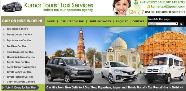Toyota innova car rental in Delhi