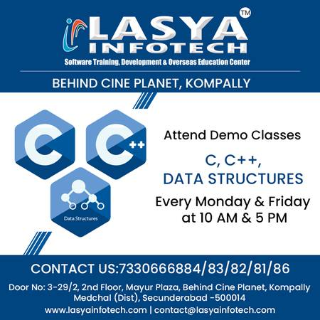 C Language Training in Hyderabad | Lasya Infotech