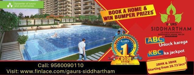 Book a Flat in Gaur Siddhartham Get a chance to WIN CRORE