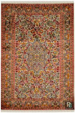 Gulab medallion kashan silk Rug Yak Carpet