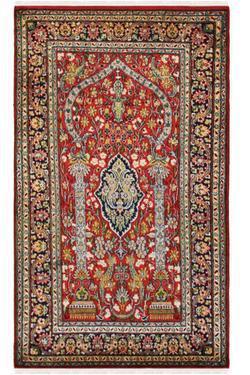 Gumbadh Kashan Silk Carpet Yak Carpet