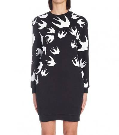 MCQ ALEXANDER MCQUEEN Black Classic Printed Dress