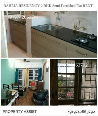 Raheja RESIDENCY 2 BHK Semi Furnished Flat for RENT