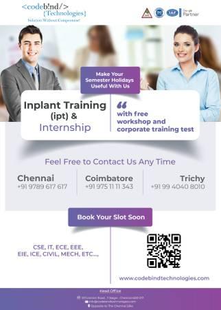 inplant training in chennai for ece