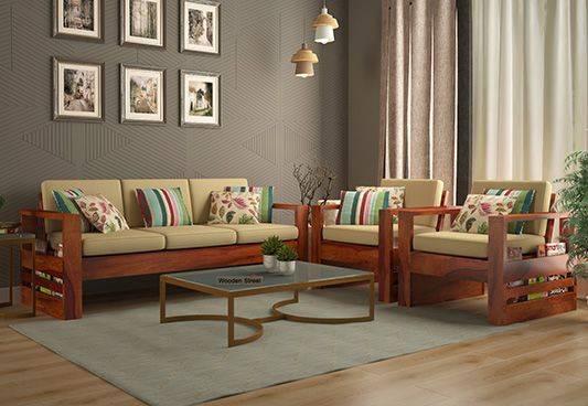 Look at amazing range of wooden sofa design @ Wooden Street