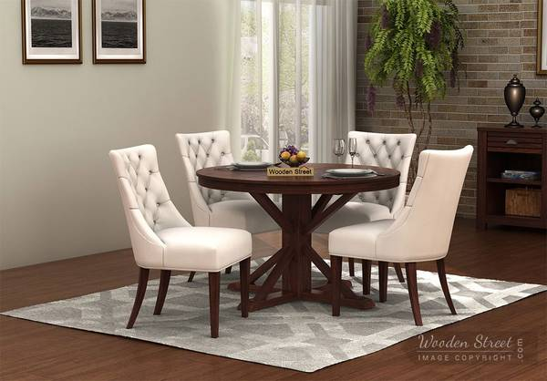 Best Round Dining Sets Online in India @ Wooden Street