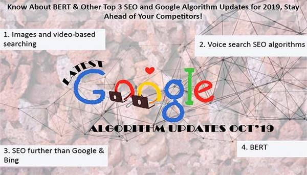 BERT, Other Top 3 SEO & Google Algorithm  Updates
